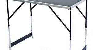 Goods & Gadgets Klappbarer Multifunktionstisch Mehrzwecktisch Campingtisch Markttisch Tapeziertisch Beistelltisch