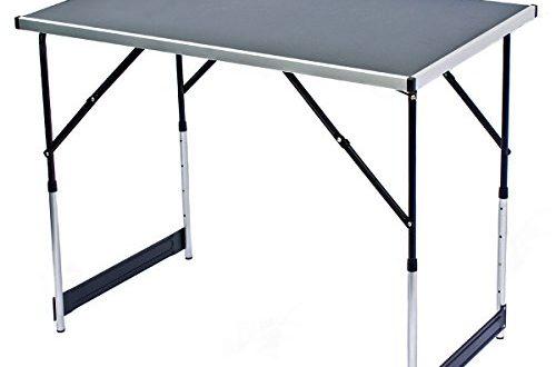 Arbeitstisch AUFUN 3-teilig Tapeziertisch 100 x 60 cm mit 4-Fach H/öhenverstellbar Campingtisch Flexibel kombinieren klappbar als Multifunktionstisch
