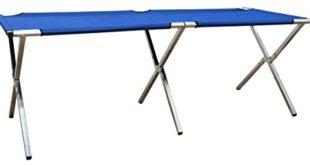 Eyepower Verkaufsstand 205x67x70cm Klappbarer Alu Marktstand Messestand Flohmarkt-Stand Verkaufstisch Verkaufstheke Blau