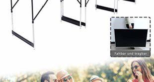 511waJKR+kL 310x165 - Aufun 3-teilig Tapeziertisch 100 x 60 cm mit 4-Fach Höhenverstellbar - Campingtisch Flexibel kombinieren klappbar als Multifunktionstisch, Arbeitstisch