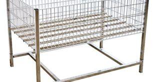 Wühltisch verchromt 120x80 cm Verkaufstisch Aktionskorb Grabbeltisch Schütte Präsentationskorb Wühlkorb Verkaufskorb Aktionsware