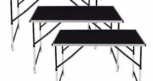 41HCta2HbbL 310x165 - HENGMEI 3-teilig Tapeziertisch 100 x 60 cm Klappbar Campingtisch Multifunktionstisch Höhenverstellbar Mehrzweck Arbeitstisch mit Tragegriff